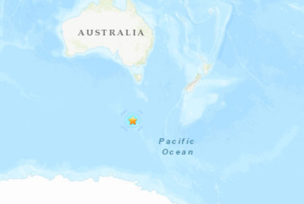 M6.0 earthquake Hits west of Macquarie Island on May 7 2021