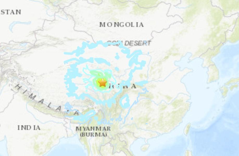 M7.4 earthquake China on May 21 2021, M7.4 earthquake China on May 21 2021 video, M7.4 earthquake China on May 21 2021 map, M7.4 earthquake China on May 21 2021 photo