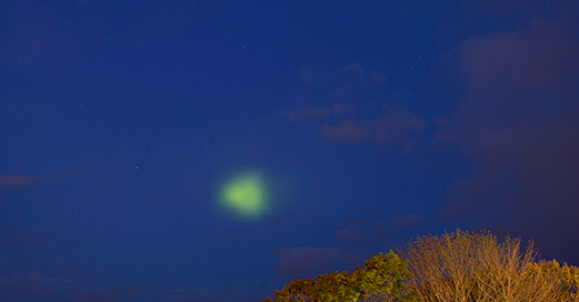 green blob rhode island, green blob rhode island photo, barium cloud rhode island, barium cloud RI picture