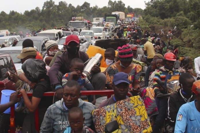 mass exodus goma, mass exodus goma video, mass exodus goma congo, mass exodus goma congo may 2021, mass exodus goma congo volcano eruption