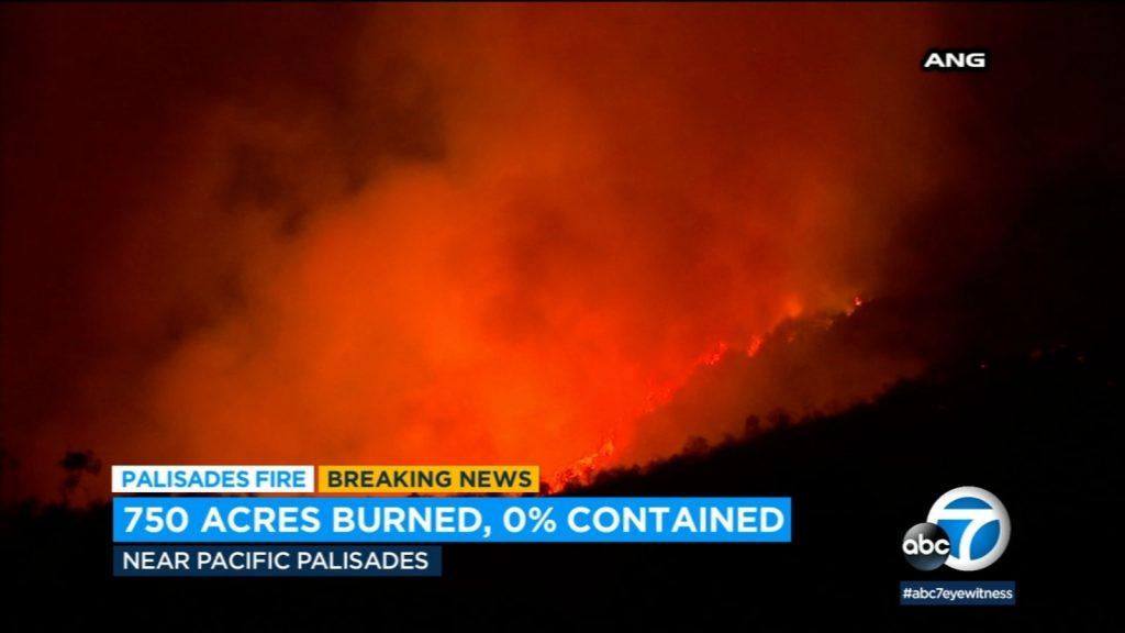 palisades fire, palisades fire photo, palisades fire video, palisades fire may 2021