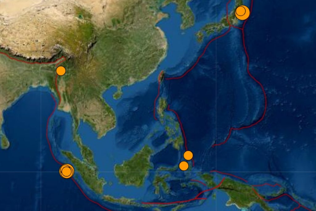ring of fire shaking hard on May 14 2021, ring of fire shaking hard on May 14 2021 with two strong earthquakes in Indonesia and off Fukushima