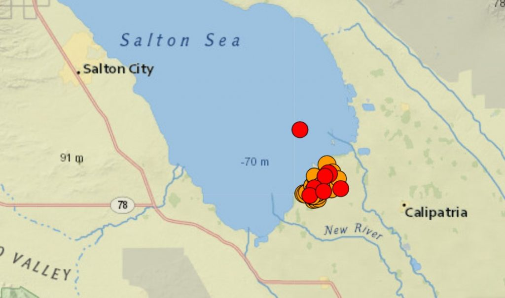 M5.2 earthquake and aftershocks swarm hit southern california