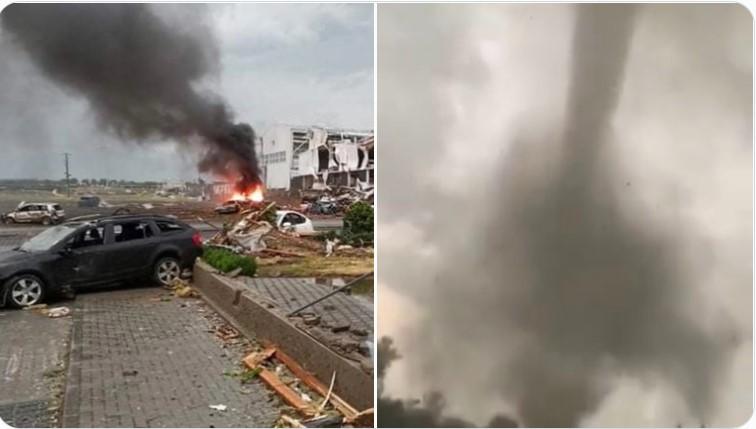 apocalyptic tornado Czech Republic june 25 2021, tornado Czech, tornado Czech video, tornado Czech photo, tornado Czech june 2021