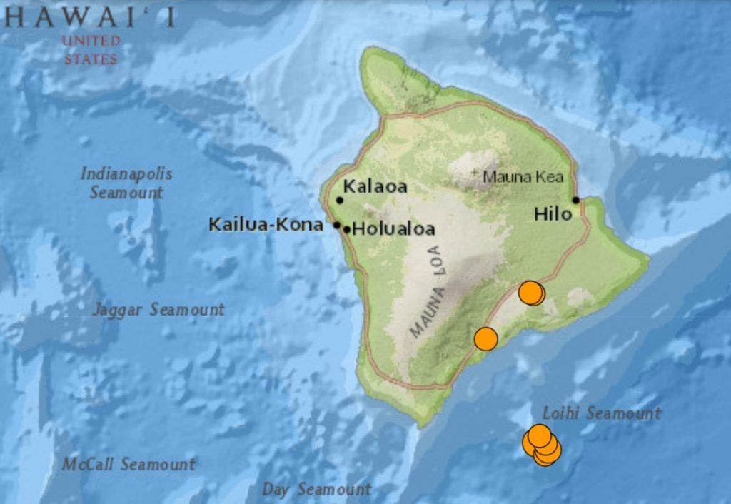 earthquake swarm rattles Loihi seamont underwater volcano in Hawaii