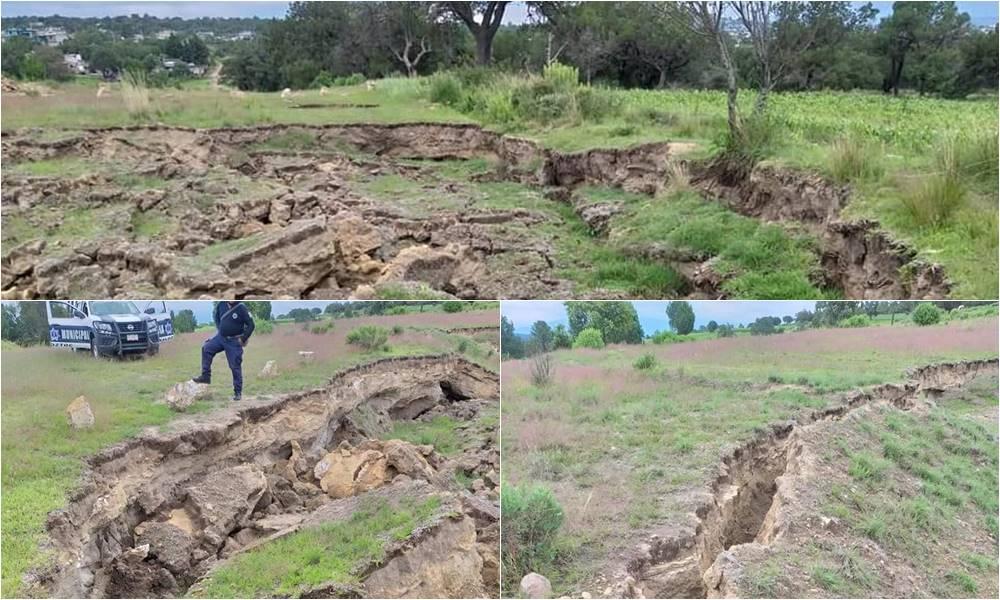 giant cracks Mexico, new sinkhole mexico, huge cracks mexico