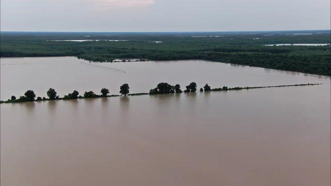 northern Mississippi flooding, northern Mississippi flooding video, northern Mississippi flooding june 2021, northern Mississippi flooding farming