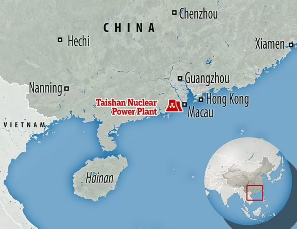 radioactive gas leak nuclear power plant china,China Taishan Nuclear Power Plant leak, leak at China Taishan Nuclear Power Plant leak, China Taishan Nuclear Power Plant leak june 2021