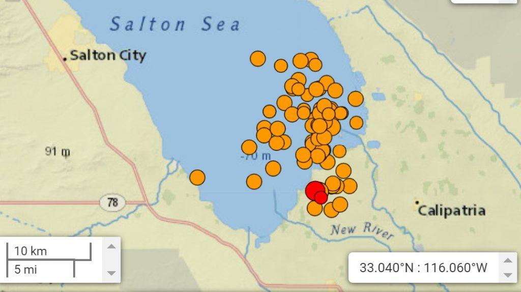 second earthquake swarm salton sea california in a week, salton sea earthquake, 2 earthquake swarm within a week hits salton sea california