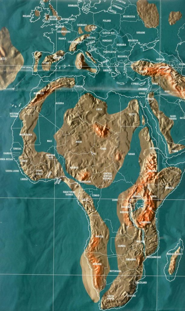 doomsday maps of Africa, doomsday map world, doomsday scenarios, map of the apocalypse, map shows earth after apocalypse