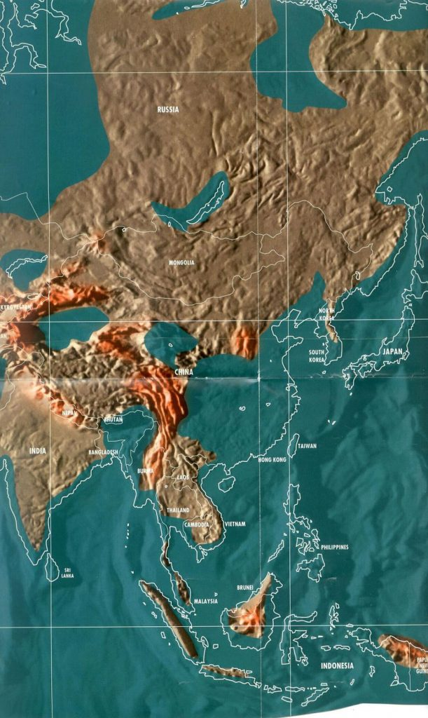 doomsday maps of Asia and China