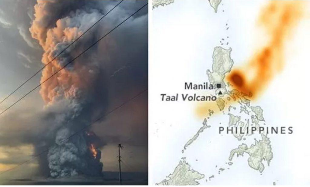 sulfur dioxide taal volcano june 2021