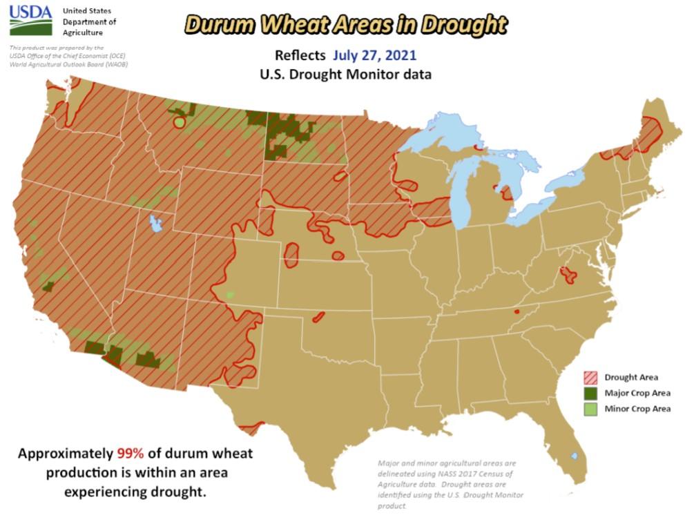 crops vs drought us map, map of crops vs drought in the us, us drought affect crops in the US