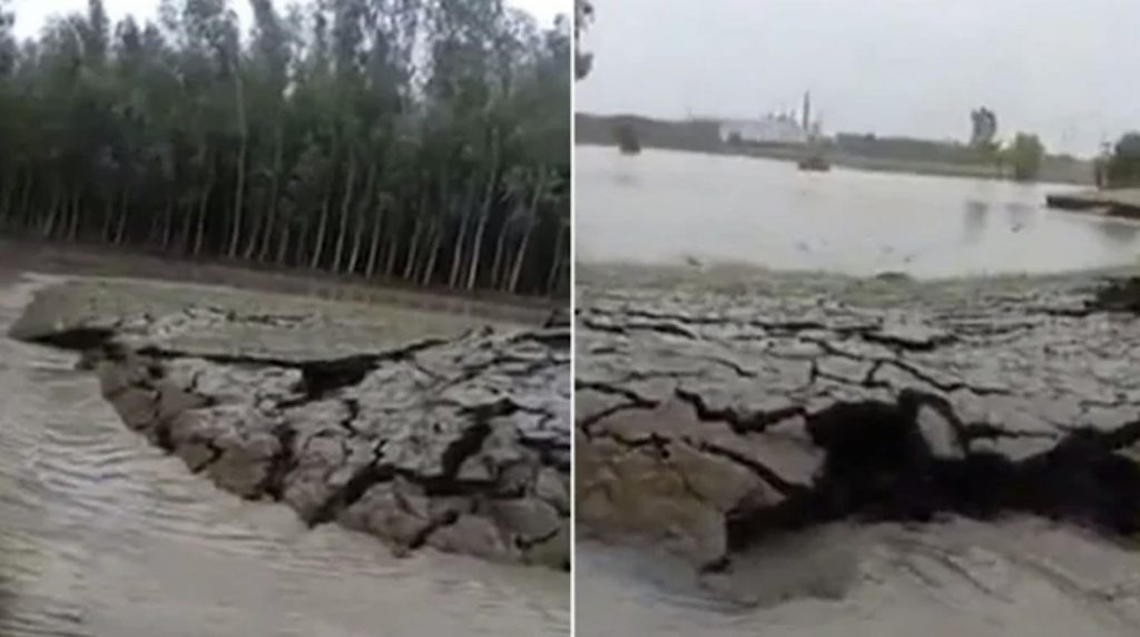 earth rises up from underwater in India, island forms india, ground rises from underwater in india