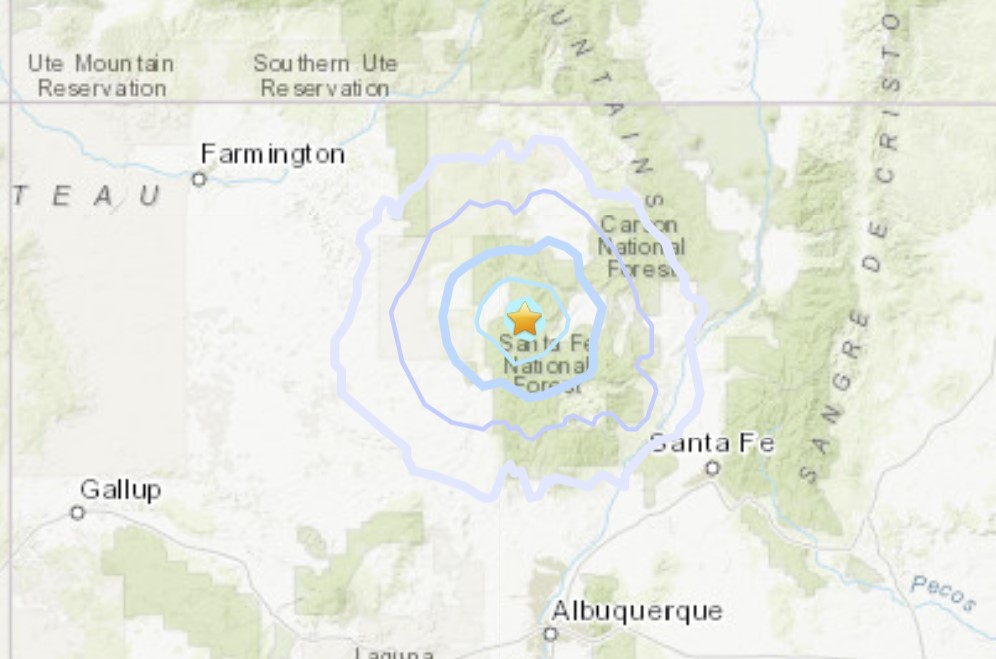 earthquake new mexico july 12 2021, M3.7 earthquake hits near Capulin volcano on July 12