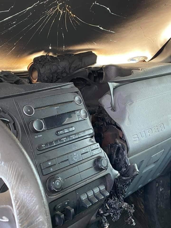 lightning destroys car michigan