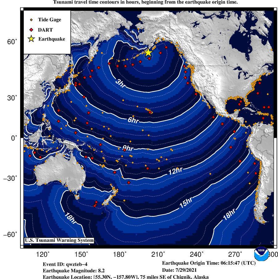 tsunami model alaska, alaska tsunami, tsunami confirmed in alaska