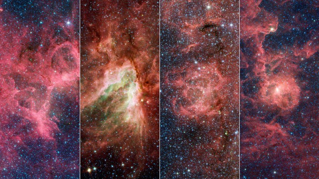 new megastructure galaxy, new megastructure milky way, Eagle Nebulae, Omega Nebulae, Triffid Nebulae, and Lagoon Nebulae