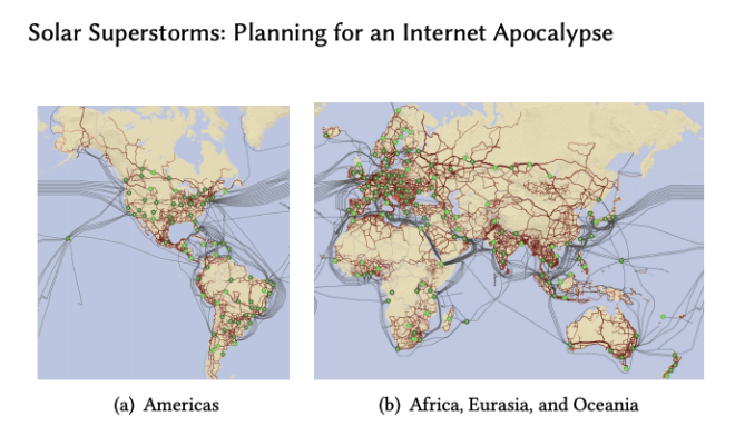 Solar Superstorms, solar superstorm prepping, solar superstorm preperation, solar superstorm internet infrastructure,  Planning for an internet apocalypse