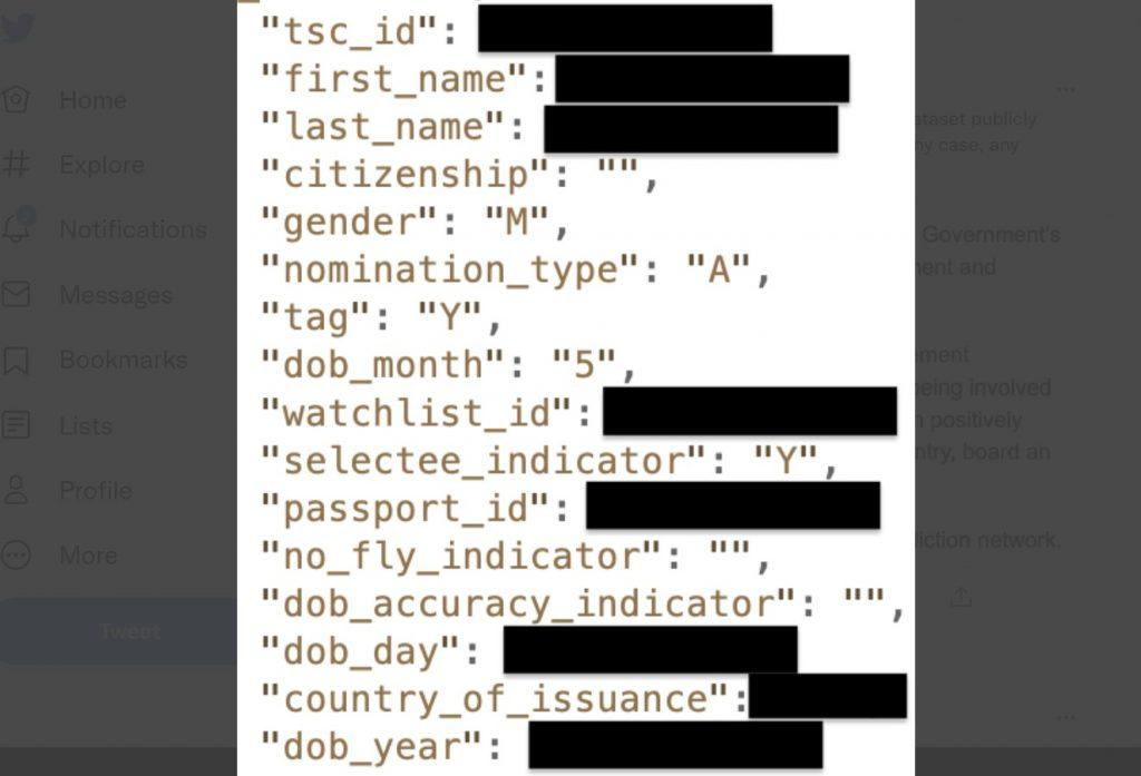 TSC data publicly exposed, Terrorist Screening Centre, Terrorist Screening Centre hack, Terrorist Screening Centre internet