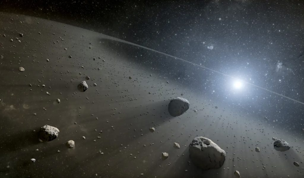Astronomers Spot Two Unusually Red Objects in the Asteroid Belt The pair, named 203 Pompeja and 269 Justitia, bear a resemblance to objects located in the outer solar system.