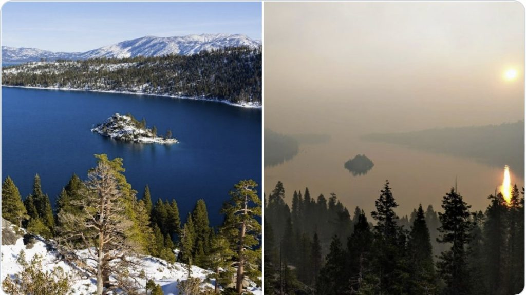 Caldor Fire, Caldor Fire california, Caldor Fire before after pictures, large chunks of ash fall during caldor fire