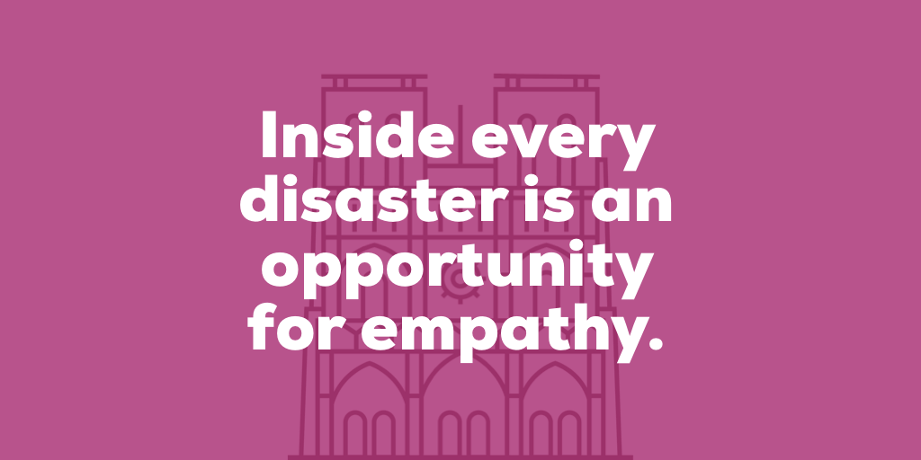 disaster empathy, empathy, empathy after disaster, empathy after disaster down