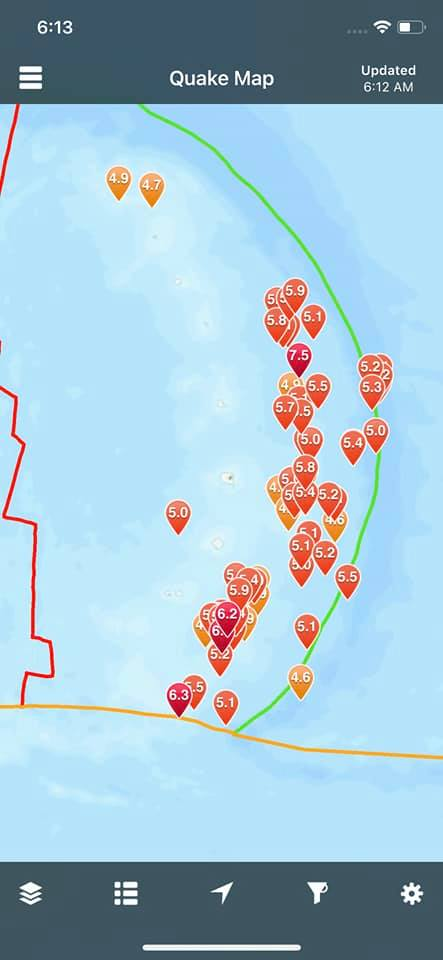 earthquake swarm south sandwich islands august 12-13 2021