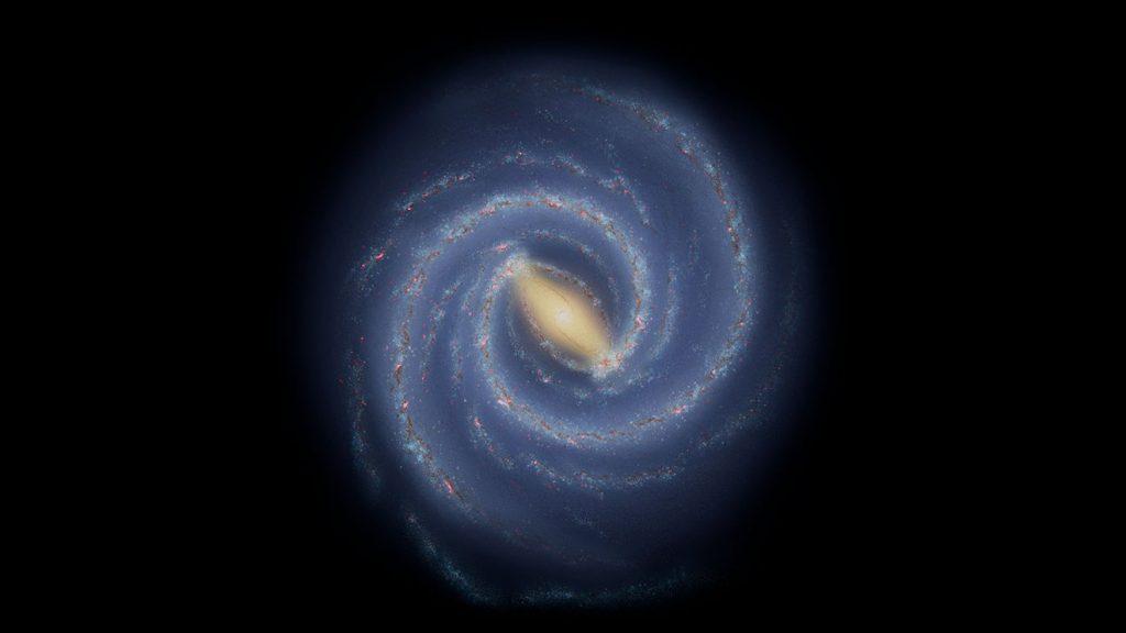 Milky Way, Milky Way map, map of Milky Way