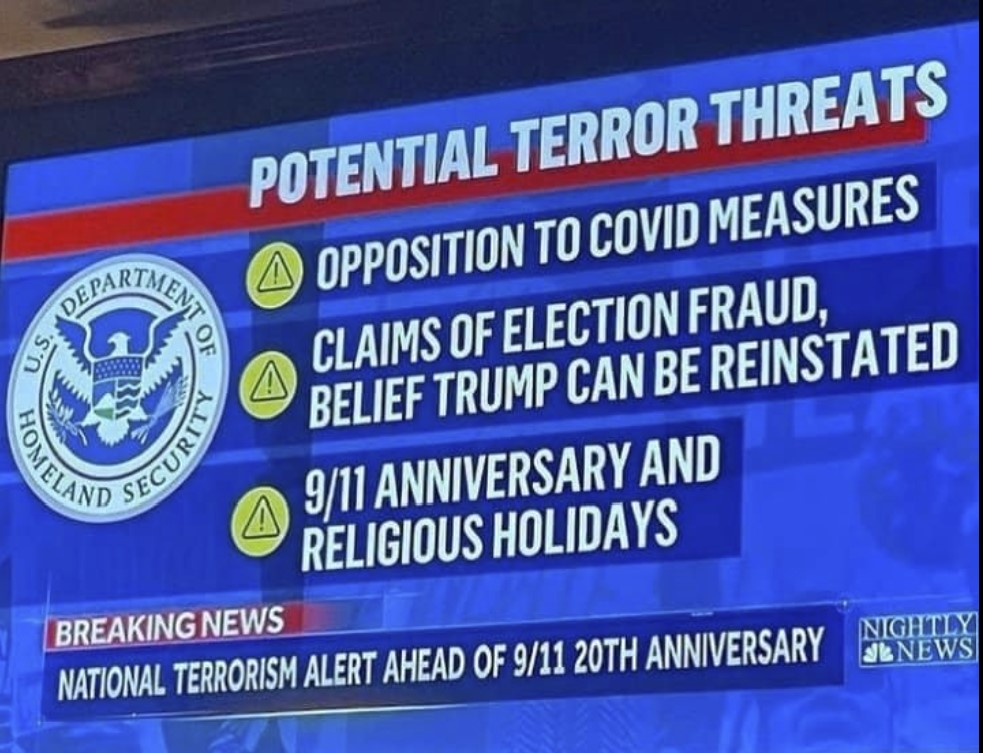 national terrorism alert ahead of 911 20th anniversary, usa terrorism, usa 911 20th anniversary