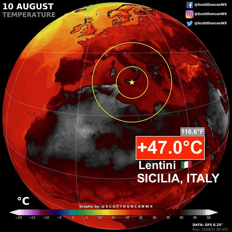 Ferocious heat spreading out of North Africa into Southern Europe right now, heatwave europe, heatwave spain, heatwave italy heat wave tunisia
