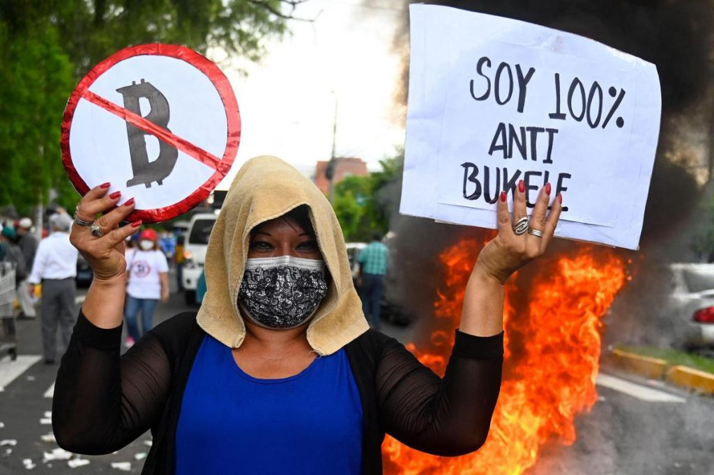 El Salvador Bitcoin experiment, Bitcoin experiment, cryptocurrency experiment, Angry protests, technological glitches and a plummet in value marked the first day of El Salvador adopting Bitcoin as legal tender