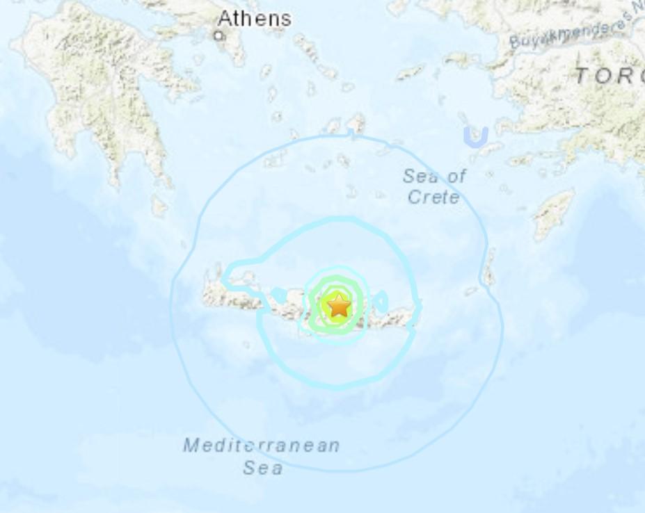 M6.0 earthquake Crete, Greece, September 27 2021