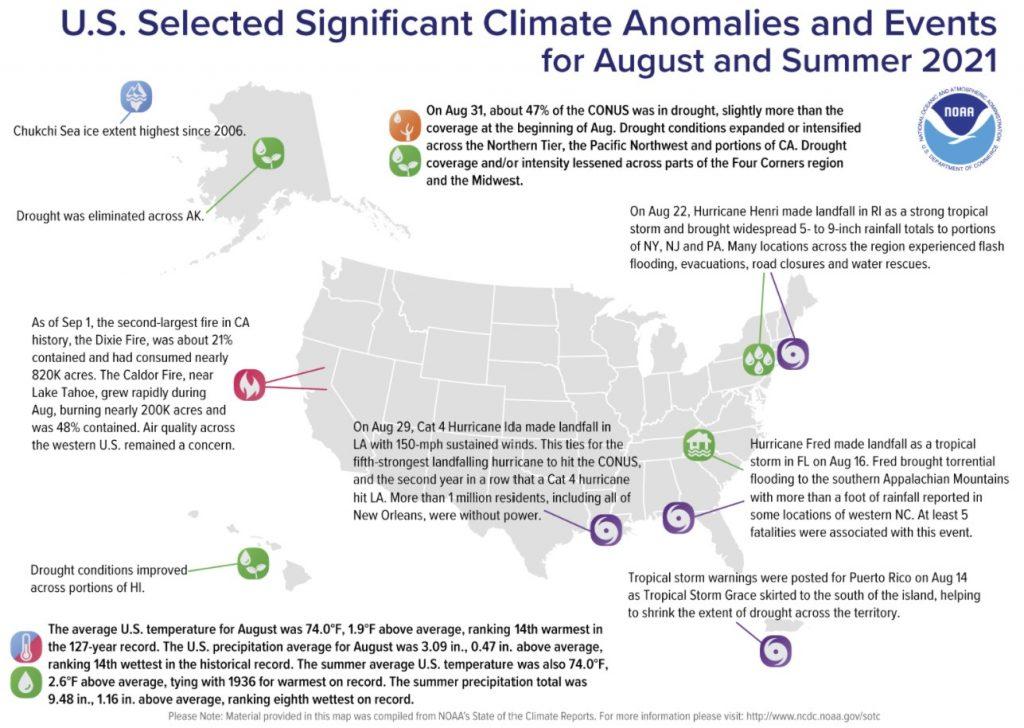 climate anomalies usa 2021