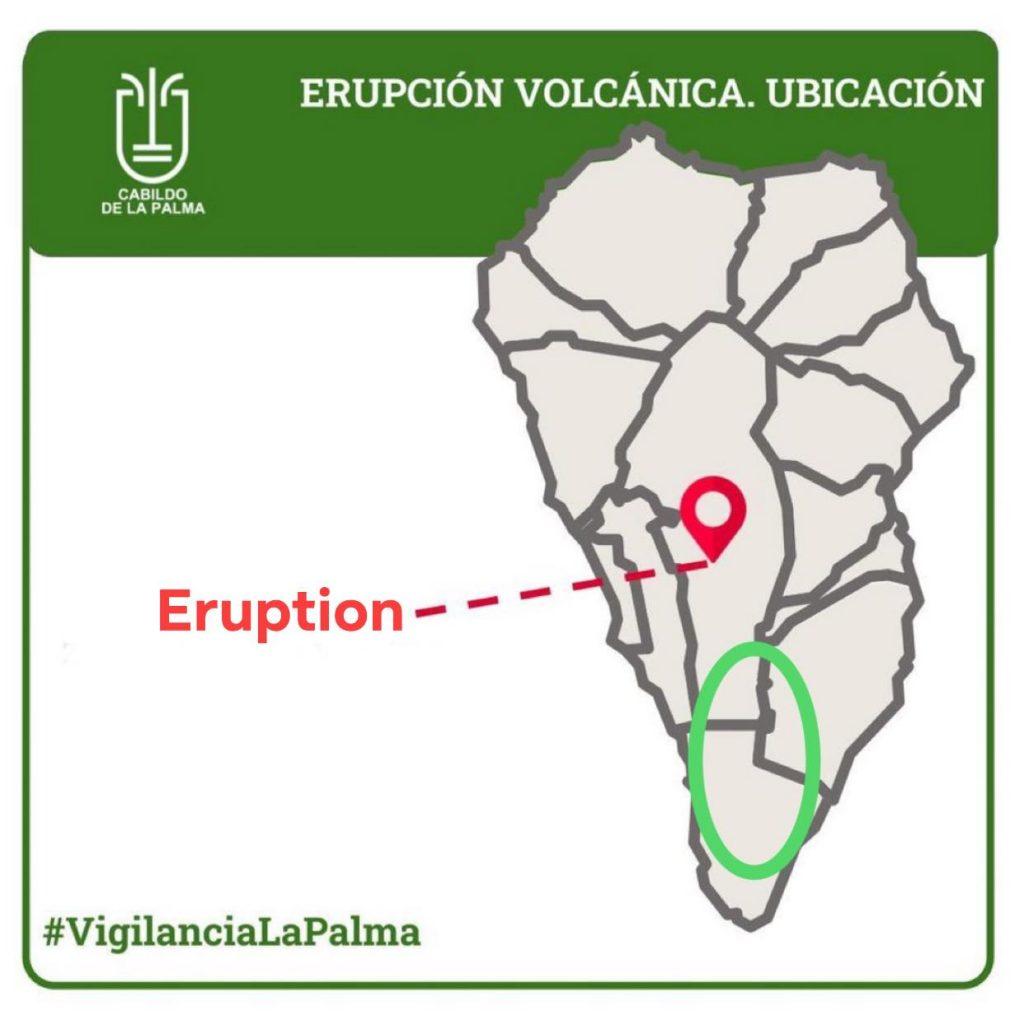 έκρηξη έναντι πιθανής μεγατσουνάμι Λα Πάλμα
