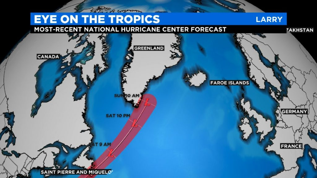 hurricane Larry, hurricane Larry update, hurricane Larry from hurricane to blizzard