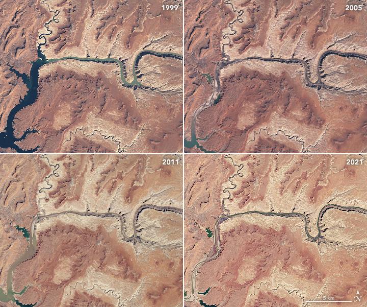 lake powell water level drop september 2021