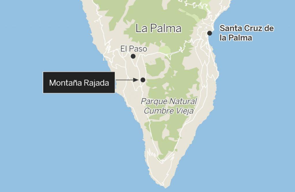 location of la palma volcano eruption