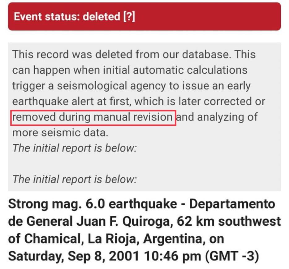 Argentina earthquake deleted on September 23