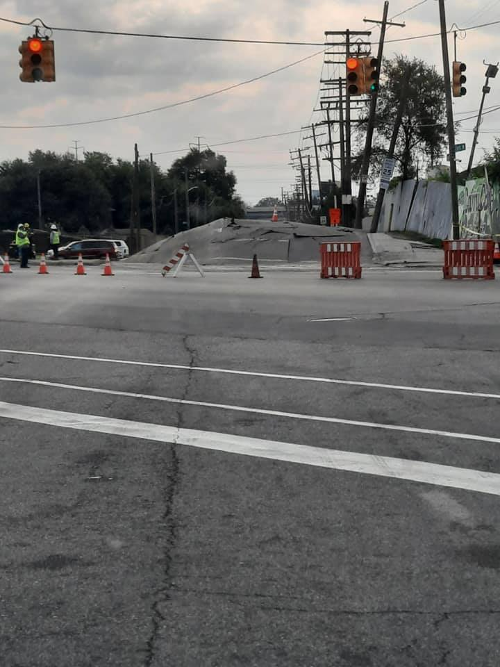 road buckling detroit, road buckling detroit video, road buckling detroit pictures, road buckling detroit september 2021, The cause of major road damage to a Southwest portion of Detroit is still under investigation after a street buckled