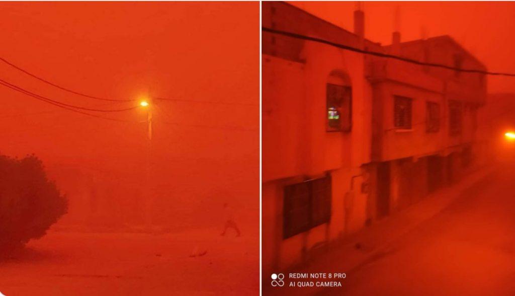 Ο ουρανός κοκκινίζει το αίμα στην Αλγερία στις 15 Σεπτεμβρίου 2021, ο ουρανός γίνεται κόκκινος στο αίμα στο βίντεο της Αλγερίας, ο ουρανός γίνεται κόκκινος στο αίμα στις εικόνες της Αλγερίας, ο ουρανός γίνεται κόκκινος στο αίμα στις ειδήσεις της Αλγερίας, ο ουρανός γίνεται κόκκινος στο αίμα στην Αλγερία αμμοθύελλα