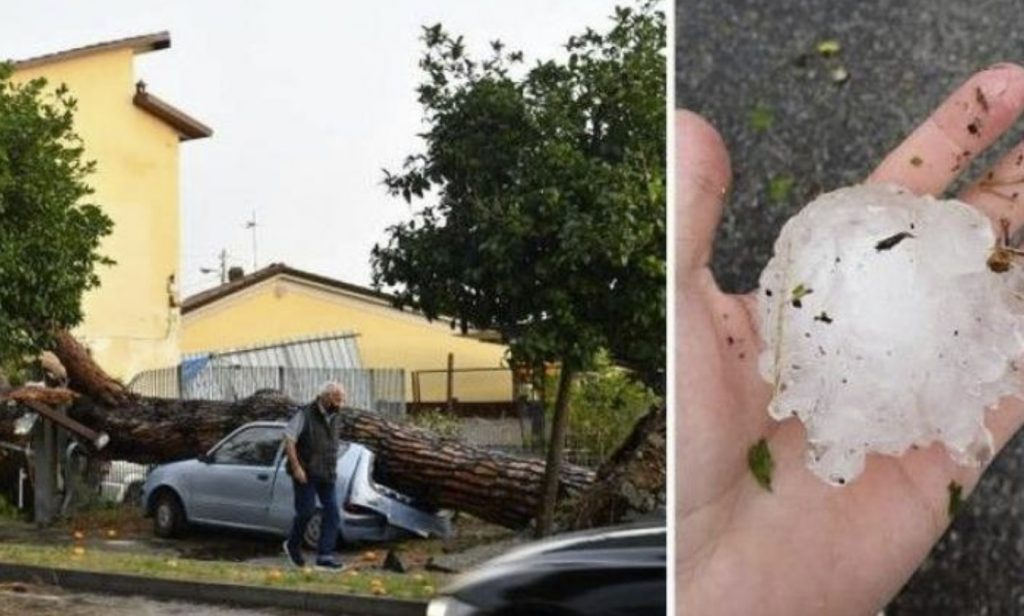 vicious hailstorm and strong winds Tuscany, vicious hailstorm and strong winds Tuscany video, vicious hailstorm and strong winds Tuscany september 26 2021