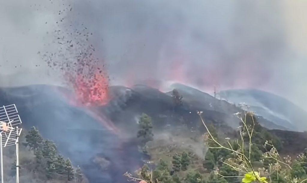 volcano eruption la palma september 19 2021, volcano eruption la palma september 19 2021 video, video la palma volcano, volcanic eruption volcano video