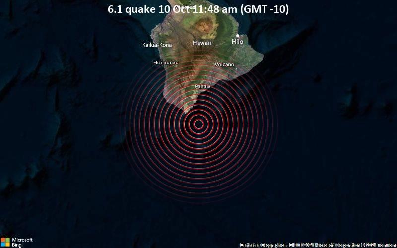 M6.1 earthquake hits off Hawaii's Big Island on October 10 2021