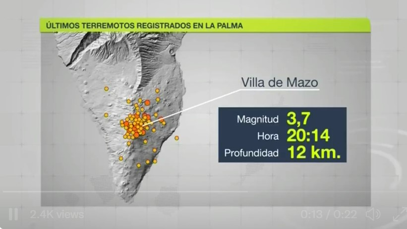 New earthquake swarms in the south of La Palma. More than 115 in 48 hours. Get ready for the tsunami
